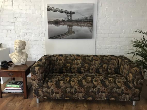 Ikea Kippan 2 seat or Compact sofa cover in Serengeti Print   Et