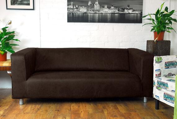 Ikea Klippan Serie Slip Cover in Dark Brown Vintage Distressed   Et