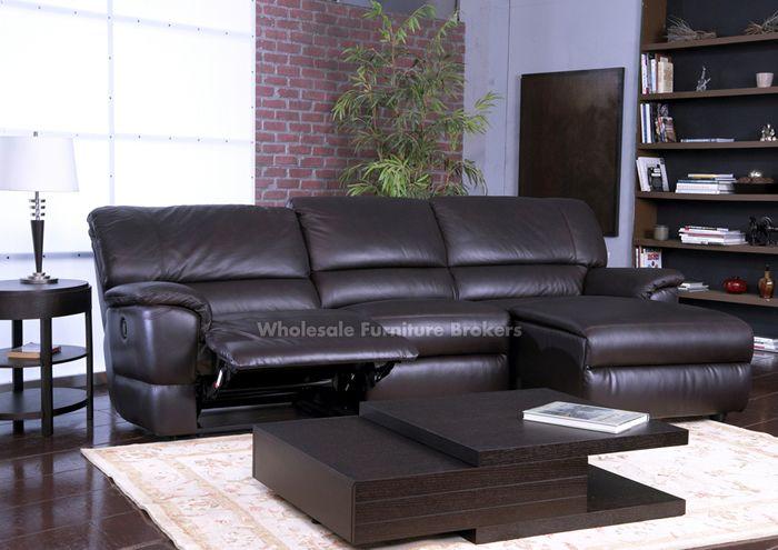 Schöne Schwarze Leder Verstellbare Sectional Sofa Recleiner Couch .