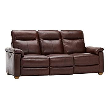 Oak Furniture Land Malmo Elektrisch mit Drei-Sitzer Sofa mit Ton .