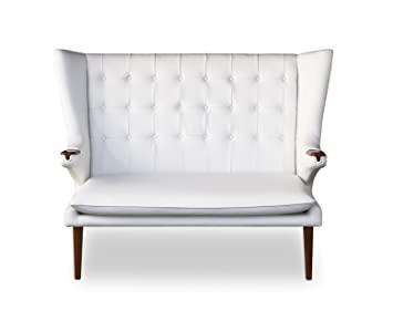 Amazon.de: Elegantes Highback Lounge Love Seat Sofa Walnuss Leder .