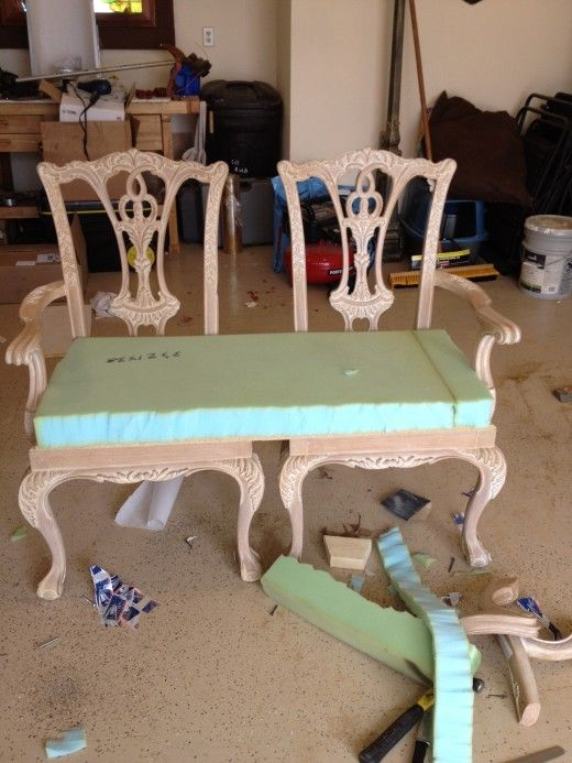 How to make a bench from two chippendale chairs | Furniture .