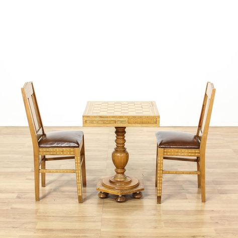 Chess Table And Chairs | Chess table, Chair, Table, chai