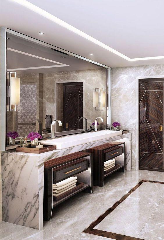 Best Luxury Bathroom Lighting Design #BadezimmerDesign .