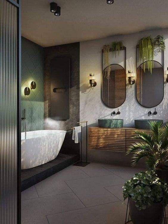 Luxus und modernes Bad für Naturliebhaber - #Bad #Liebhaber #Luxus .