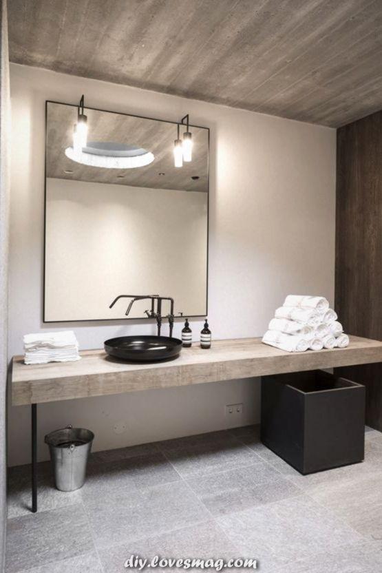 Spektakulär Betondecke Badezimmer? #badezimmer #betondecke .