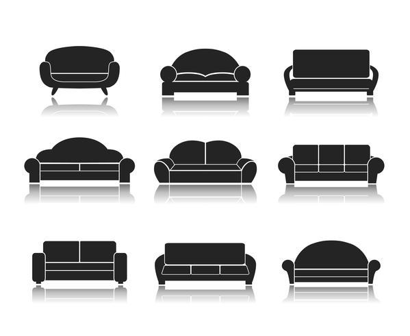 Moderne Luxussofas und Sofas - Download Kostenlos Vector, Clipart .