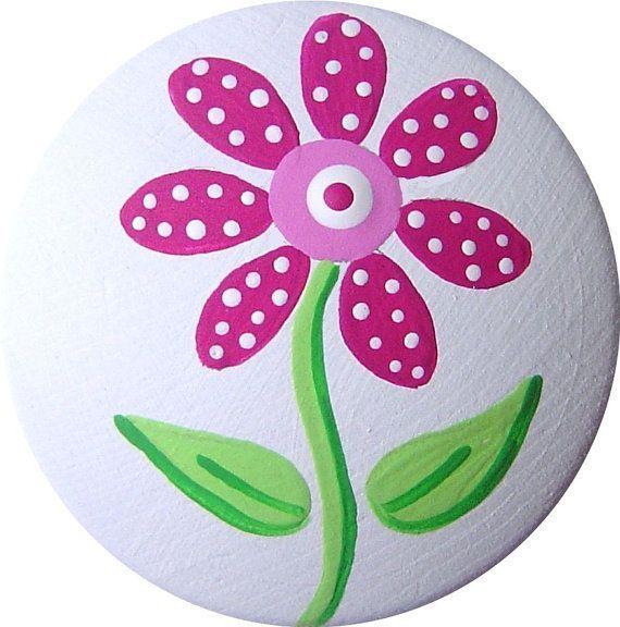 Rosa Blume handgemalte dekorative Holz Kommode Möbel Mädchen .