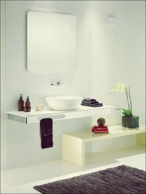 Die elegante Gio Marmor Waschtischplatte von Studio 63 .
