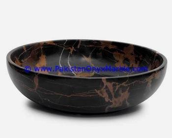 Modernes Design Marmor Obstschalen Schwarz Und Gold Marmor Gericht .