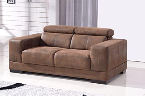 Microfaser Sofa 2-Sitzer Mikrofasersofa Dreisitzer Couch 2017-2 .