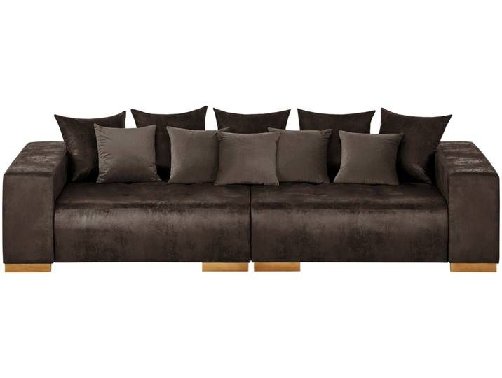 switch Big Sofa braun - Mikrofaser Kai ¦ braun ¦ Maße (cm): B: in .