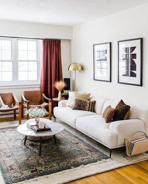 Minimalistisches Innendesign - Dekoration | Wohnzimmer gestalten .