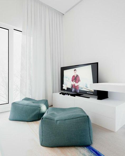 Minimalistisches Innenarchitektur Wohnzimmer