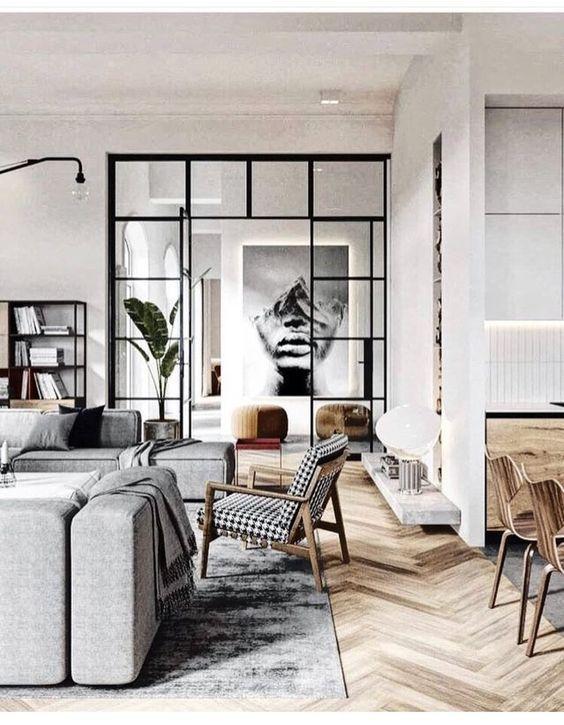 Minimalistische Küchenmöbel-Innenarchitektur warme minimalistische .