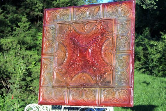 Radiant Lost Leaf glasierte Decke Zinn Panel Fliesen 36 ins. | Et
