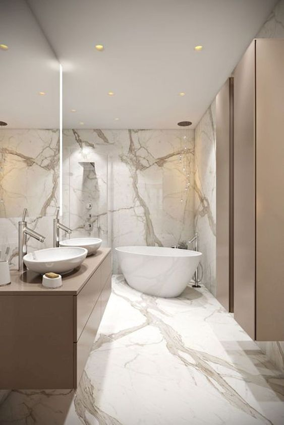 60 Moderne Badezimmer-Design-Ideen zum sich zu in .