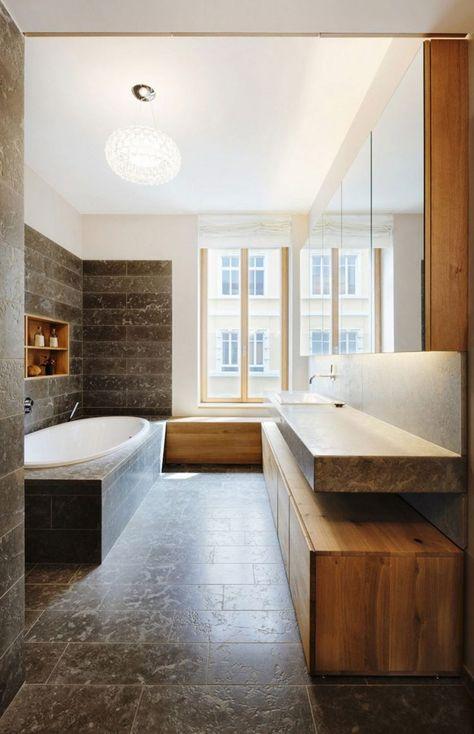 Badmöbel aus Holz – 50 moderne Sets fürs Bad als Inspirationen .