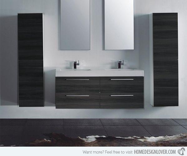 15 Modern Double Sink Bathroom Vanity Sets   Badezimmer .