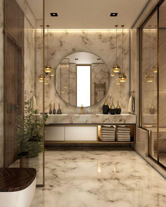 modern home decor contemporary Moderne Badezimmerbeleuchtung in .