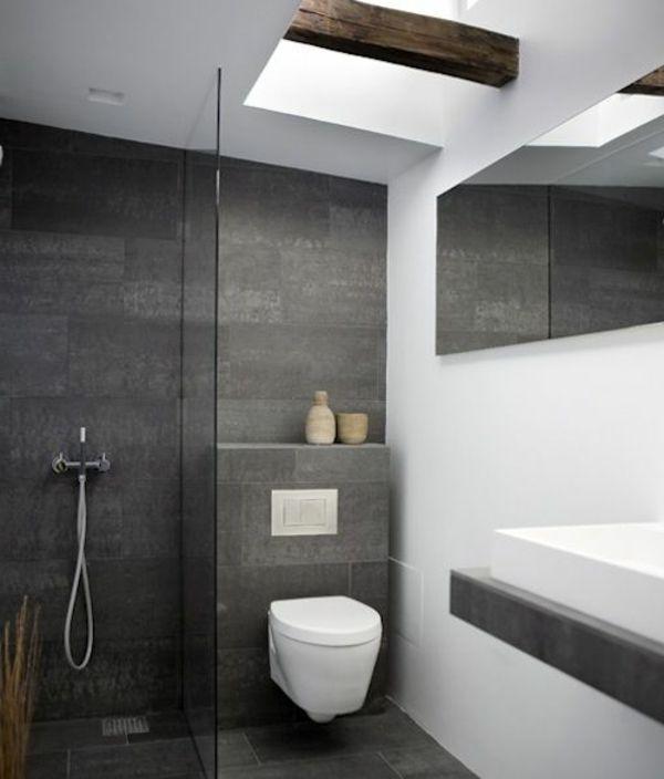 Moderne Badezimmer Ideen - coole Badezimmermöbel   Badezimmer grau .