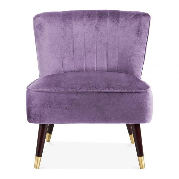 Purple Velvet Accent Chair | Moderne stühle, Lila samt und Stüh