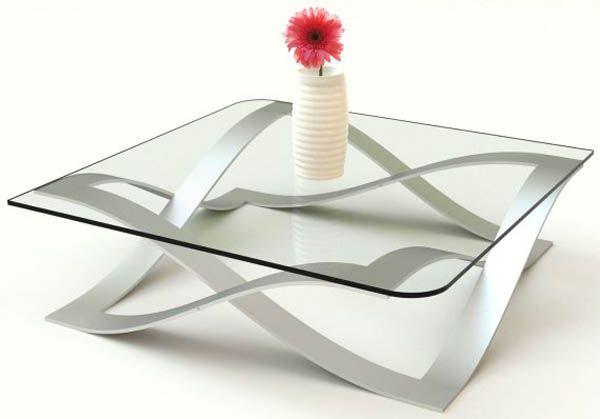Moderne Glastische