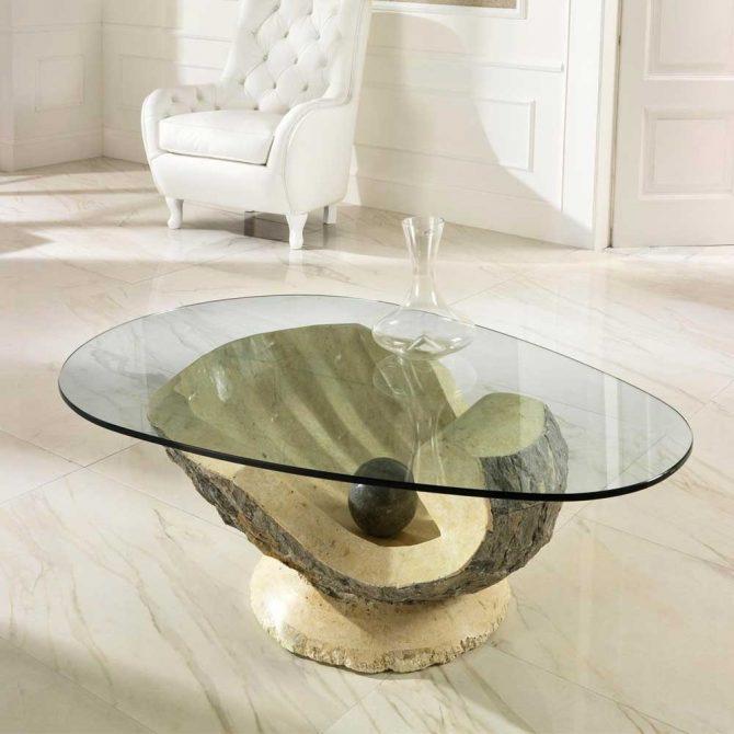 Ovaler Glastisch Couchtisch Trendy Aus Glas Oval In Kamen F