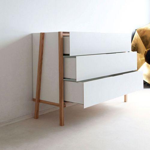 Moderne Kommode / Holz / weiß 4×4 45 Kilo | Kommode modern .