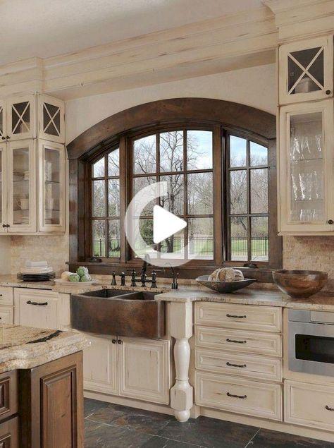 115+ elegante moderne rustikale Bauernhaus Küchenschränke Ideen .