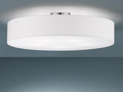 Runde Deckenleuchte mit Stoffschirm in weiß Ø 65cm E27 moderne .