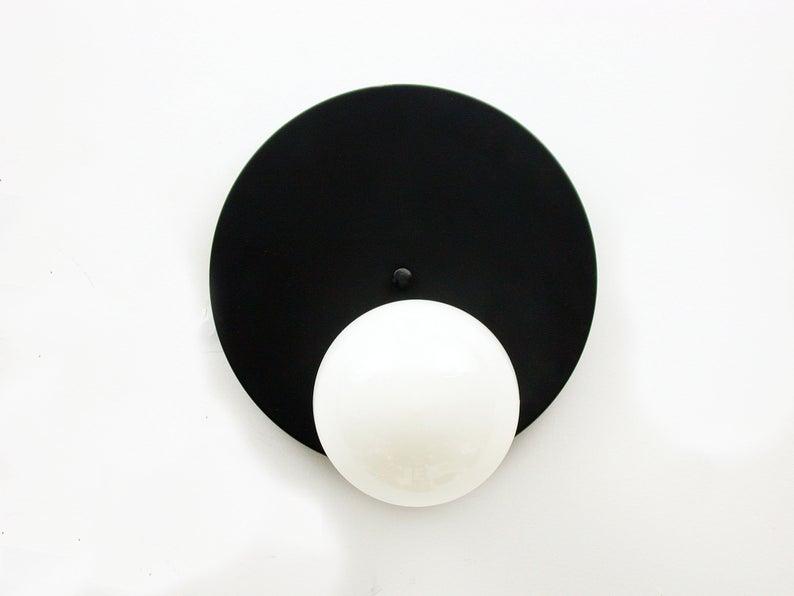 Moderne schwarze Wandleuchte Licht Schwarz Weiß Minimalistische .