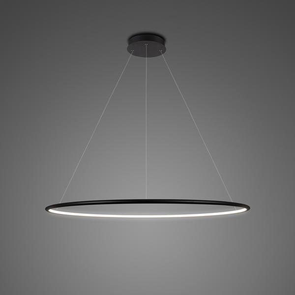 Altavola Design: moderne Pendelleuchte Led Ring No. 1 schwarz 4k .