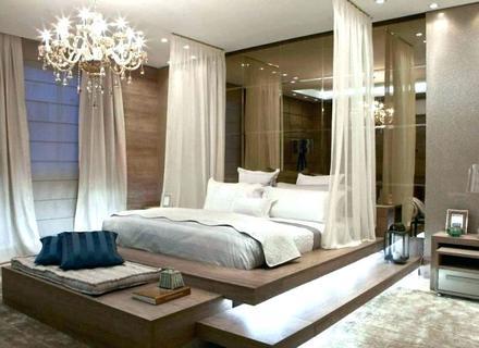 D Rendering Moderne Luxus-Schlafzimmer-Suite Im Hotel - Catcome