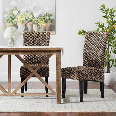 Alana Water Hyacinth Parson Stühle, 2er Set | Moderne stühle, Haus .