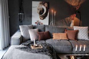 Gemütliche Wohnkultur, Wohnzimmerdekorationsideen, moderne .