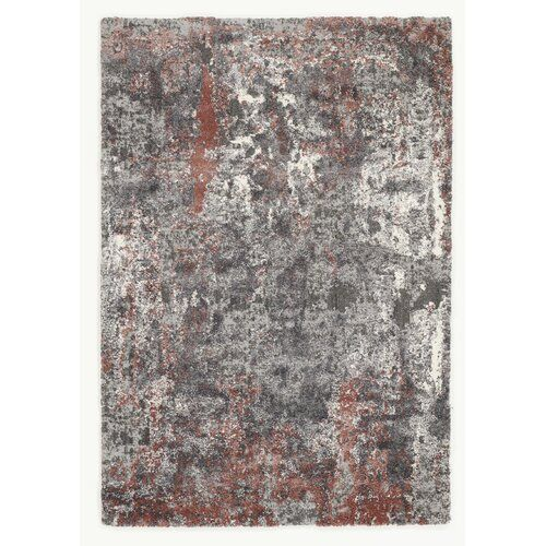 Glessite Red/Grey Shag Rug Canora Grey Rug size: Rectangle 200 x .