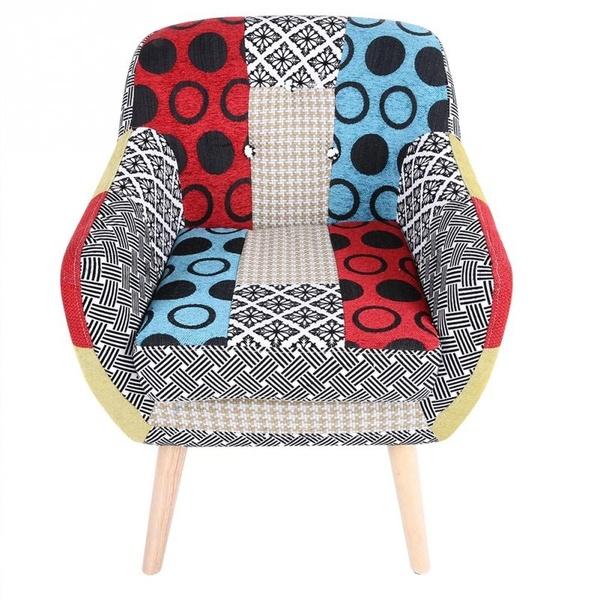 Modernes Lehnsessel-einzelnes Sofa-bequemes Sitzgewebe-Sofa .