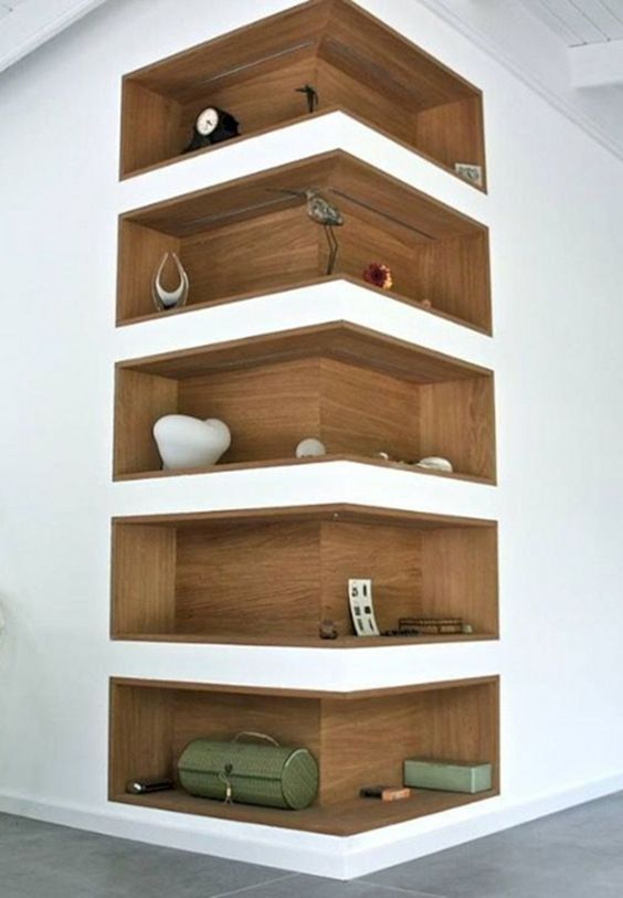Modernes Corner Bücherregal