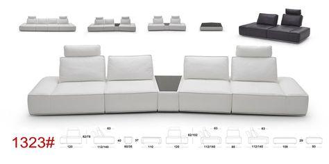 Inspirierend, Modular Leather Sectional Sofa | Ecksofas, Modernes .