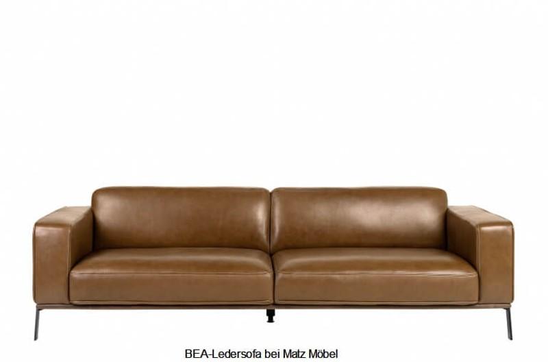 BEA, Designer Ledersofa braun | Matz Möbel - Vintage- & Designermöb