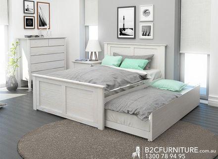 Moderne Schlafzimmer Design Doppelbett Stock Photo - Catcome