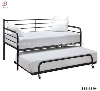 Günstige Moderne Einfache Weiß Metall Daybed Mit Trundle Bett .