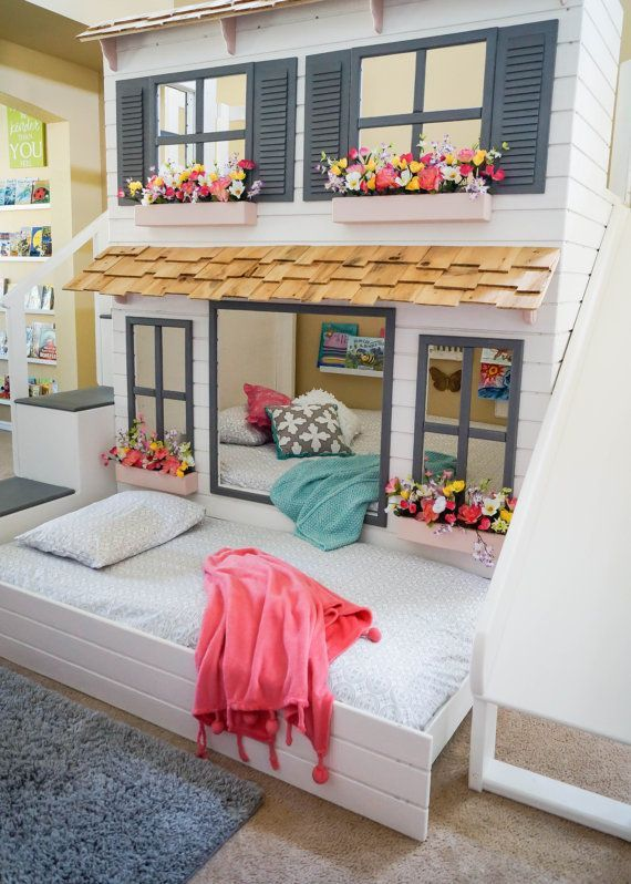 The Layla Bed, Offered as a Loft Bed or Bunk Bed, Optional trundle .