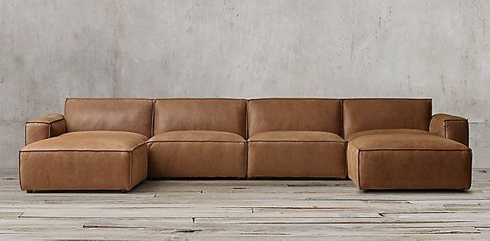 Como Leather Modular Collection   RH   Modular couch, Living room .