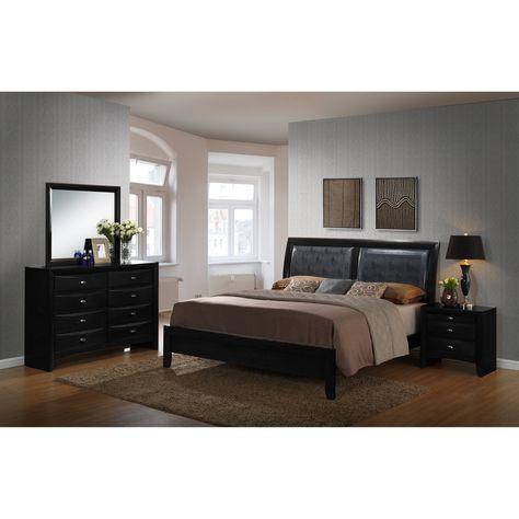 Schwarze Leder Nachttisch | Nachttisch grau, Nachttisch schwarz .