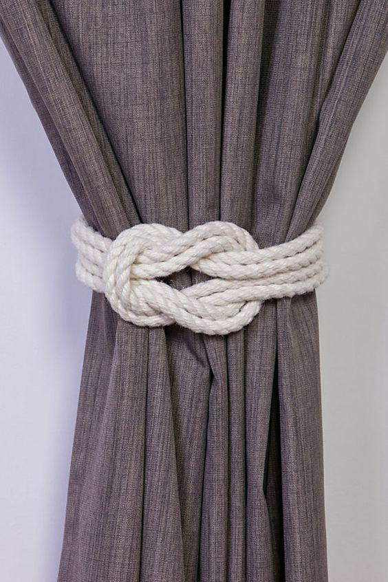 Baumwollseil doppelten Kreuzknoten nautischen Vorhang Raffhalter .