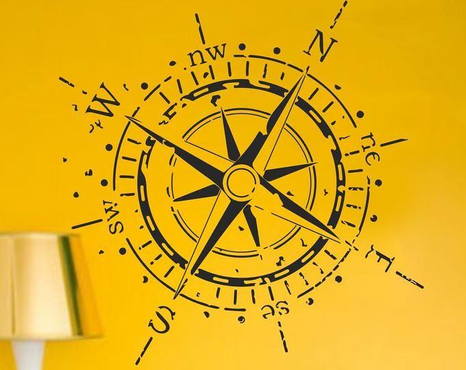 Der Kapitän Kompass Rose Wand oder Decke Aufkleber, Medaillon .