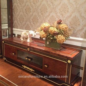 Neueste Italienische Luxus Klassische Wohnzimmer Möbel Holz Tv .