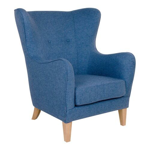 Ohrensessel Goble Brayden Studio Polsterfarbe: Blau | Fabric .